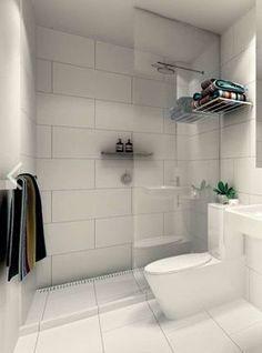 Large white tiles -