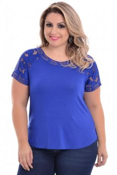 Blusa Plus Size Royal Night