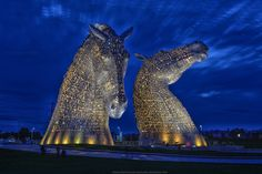The newly constructed Kelpies at Helix Park. In September they were lit up gold for the Ryder Cup. This photo was seen by 142,000 people & shared 1,564 times.