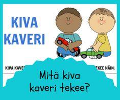 ystävyys ja leikkitaidot Primary Education, 8 Year Olds, Social Skills, Teaching Kids, Preschool, Workshop, Family Guy, Classroom, Preschools