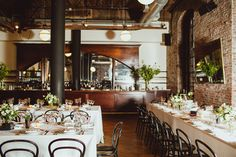 wedding reception - photo by Amber Gress http://ruffledblog.com/modern-brooklyn-wedding-at-the-wythe-hotel