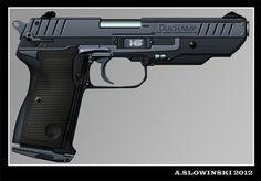 Model 769,5 Pistol by BlackDonner.deviantart.com on @deviantART