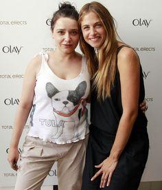 Con Martina Klein en un evento de Olay