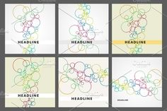 Set beautiful colored circles by Haisonok on @creativemarket
