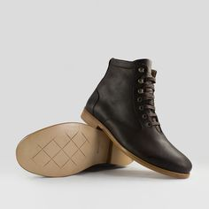 6e51f642e247ee ekn footwear - Desert High   Braunes geöltes Glattleder   Ledersohle