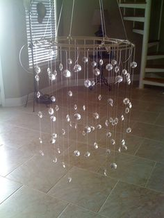 Crystal mobile for a baby or a chandelier for my kitchen :)