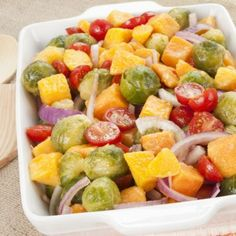 Roasted Brussel Sprout and Butternut Squash Veggie Medley