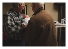 Meeting her grandpas ~ Birth session by J L Scott Photography