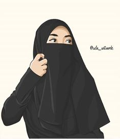 Gambar Kartun Muslimah Bercadar Cantik Hijabi Girl, Girl Hijab, Best Facebook Profile Picture, Hijab Drawing, Islamic Cartoon, Muslim Women Fashion, Hijab Cartoon, Islamic Girl, Fashion Design Sketches
