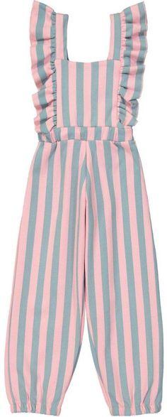 hugo loves tiki pastel stripes kids jumpsuit kids fashion - March 08 2019 at Jumpsuit For Kids, Baby Jumpsuit, Dresses Kids Girl, Girl Outfits, Little Girl Fashion, Kids Fashion, Kids Gown, Kids Frocks Design, Kids Suits