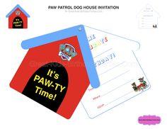 Paw Patrol Birthday - Free PAW Patrol dog house invitation.