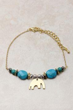 Turquoise Crystal Elephant Bracelet on Emma Stine Limited