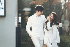 Vivid wedding photography poses - score exciting tips from this photo excerpt. Pre Wedding Photoshoot, Wedding Poses, Wedding Shoot, Korean Wedding Photography, Couple Photography, Song Ji Eun, Prenup Photos Ideas, Korean Photoshoot, Making A Wedding Dress