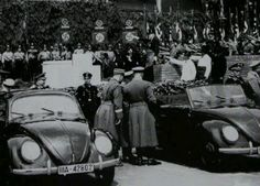 Volkswagen Beetle - Some Volkswagen Beetle sedans were built at the new factory at Wolfsburg. See pictures and learn about the Volkswagen Beetle. Volkswagen Beetle Nuevo, Volkswagen Factory, Van Vw, Ford Mustang 1964, Kdf Wagen, Vw Vintage, Ferdinand Porsche, Vw Cars, Vw Beetles
