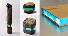 Splitting his time between Kanagawa, Japan and Dusseldorf, Germany, artist Ramon Todo (previously) is known for his small sculptures of rocks and books embedded with polished layers of glass. Todo's decision to seamlessly introduce disparate materials into a single object creates an unusual i