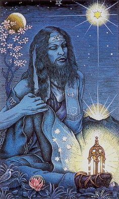 The Hermit - Cosmic Tarot