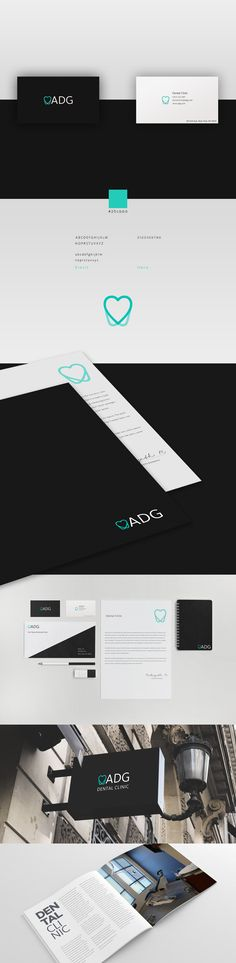 ADG Dental Clinic branding.