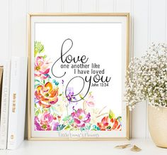 Marriage quotes love wall art printable by LittleEmmasFlowers
