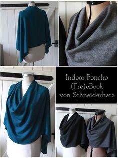 ebook freebook Anleitung Poncho Indoor Cape nähen DIY
