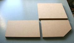 Three main mdf parts for a bookend display for miniatures - Photo ©2008 Lesley Shepherd, Licensed to About.com Inc.