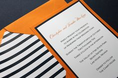 Orange and Navy Wedding Invitations, Nautical, Beach by decadentdesigns, via Flickr