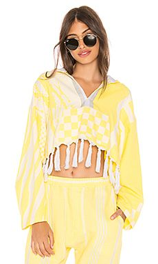 New Paradised Cropped Baja Hoodie online. Enjoy the absolute best in Cinq a Sept Clothing from top store. Sku dkiy89295dfcl46877