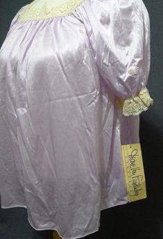 Diane Von Furstenberg Pajama Set 2 Pc. Lavendar Nylon Lace Detail NWT Small USA   eBay