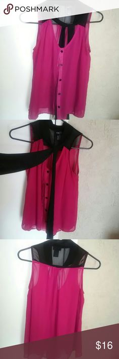 Blouse. BUY 1 GET 1 Tops Chiffon blouse with attatched tie around the collar Rue 21 Tops Blouses
