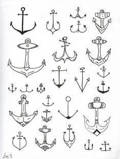 love anchors. to paint on canvas - for navy wall in family room.
