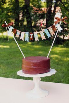 DIY Birthday Cake Banner Tutorial... so cute!