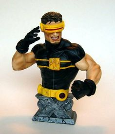 """Ultimate X-Men: Cyclops Bust by Marvel Select. $88.99. Based on Adam Kubert Art!. Dynamic Pose of X-Men Leader!. Limited Edition!. A Diamond Select Release! Sculpted by David Cort's and designed in conjunction with Adam Kubert. This Ultimate Cyclops Bust is the third in the Ultimate X-Men line! Captured in the middle of battle firing his optic blast, with battle-worn Ultimate X-Men logo base; this is no """"Slim"""" Summers, this Cyclops is bulked-up for a new generation: to..."""