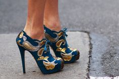 Gorgeous shoes! ... The kind that speaks to you!