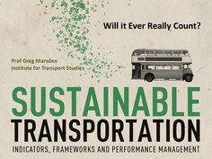 Sustainable transport - will it ever really count?