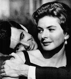 "Ingrid Bergman and Anthony Perkins in ""Goodbye Again"" (1961)"