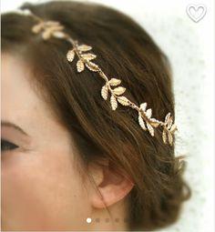 Trendy Hairstyles, Wedding Hairstyles, Gold Leaf Crown, Crown Headband, Gold Leaf Headband, Black Headband, Wedding Hair Accessories, Hair Jewelry, Bridal Hair