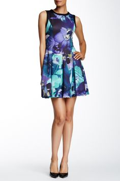 Sleeveless Pleated Dress by Vince Camuto on @nordstrom_rack