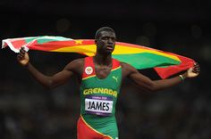 Kirani James, first ever medalist from Grenada!  Won gold in the 400.