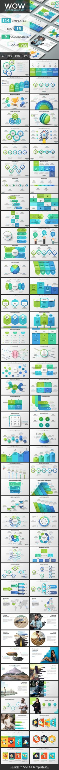 Wow Infographic Collection Templates PSD, Vector EPS, AI Illustrator. Download
