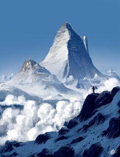 (Fantastic digital landscapes) | Snow mountains by Roberto Nieto http://syntetyc.deviantart.com/art/Snow-mountains-259360566