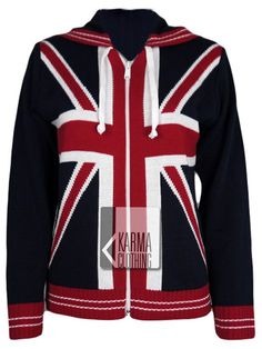 Union Jack Clothing And Accessories   Union Jack Hooded Jumper