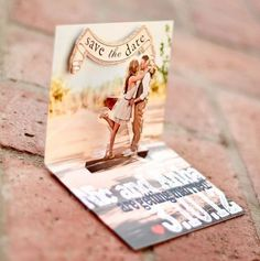 Pop up Save The Date card. Coolest save the date ever! Coolest Invitation ever! Wedding Events, Our Wedding, Dream Wedding, Wedding Blog, Wedding Pins, Fall Wedding, Trendy Wedding, Luxury Wedding, Hipster Wedding