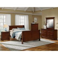 Neo Classic Cherry Queen Bed | American Signature Furniture. Value City ...