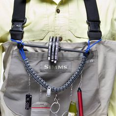 Lanyard with removable neck strap to attach to waders. $45 natureboydesigns.com