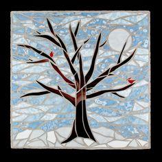 winter scene mosaic | Criativa Arts - Mosaic Trees