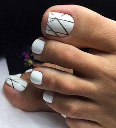Feet Nail Design, Toe Nail Designs, Pedicure Designs, Pretty Toe Nails, Cute Toe Nails, Toe Nail Color, Summer Toe Nails, Vacation Nails, Feet Nails