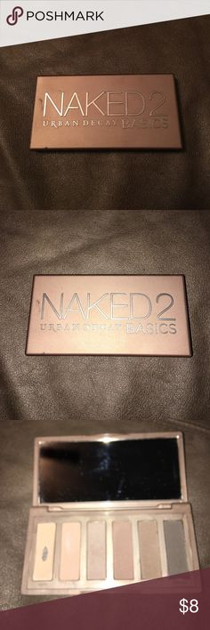 Urban Decay Naked 2 Basics Palette Gently used only hit pan on first shade. Love this little palette! Perfect for everyday and travel! Makeup Eyeshadow