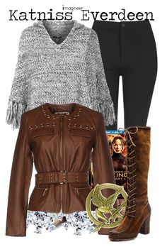 """Hunger Games Style"" by claucrasoda ❤ liked on Polyvore featuring Topshop, Raagaz, BERRICLE, MICHAEL Michael Kors, Frye, Hungergames and contestentry"