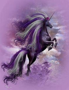 Purple & White Unicorn