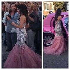 Classy Prom Dresses, Sexy Luxury Sparkle Bling Pink Mermaid Sweetheart Beads Crystals Formal Gowns Prom Party Dresses Graduation Dresses for Teens Prom Dresses Long Pageant Dresses For Teens, Classy Prom Dresses, Elegant Bridesmaid Dresses, Straps Prom Dresses, Prom Dress Stores, Prom Dresses 2017, Plus Size Prom Dresses, Tulle Prom Dress, Mermaid Evening Dresses