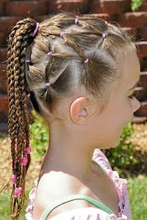Hairstyle for Multiple Days @ Princess Piggies.  This is a great one if you're going camping.